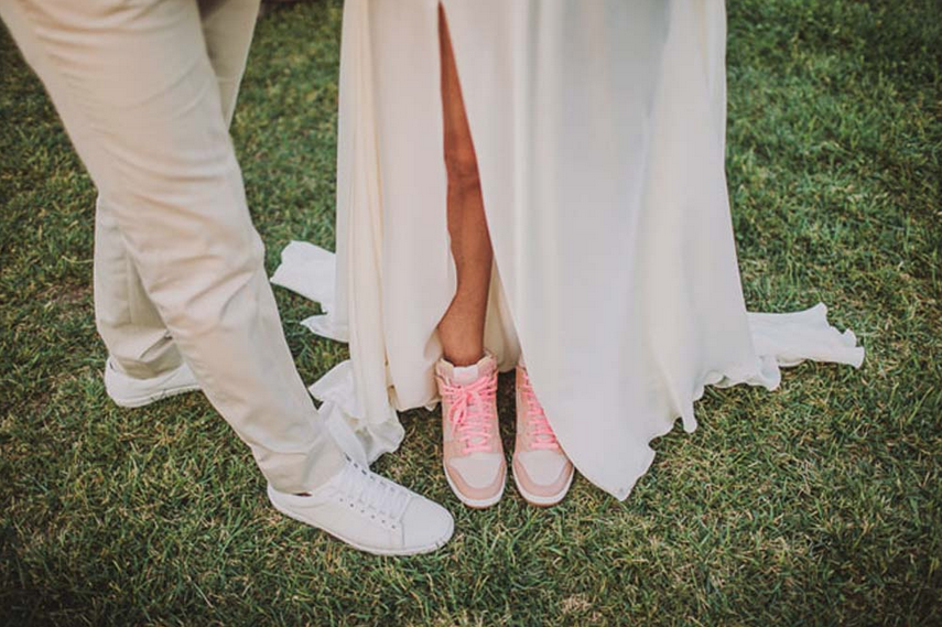 Assez La mariée en baskets | Look Mariage | Queen For A Day - Blog mariage PJ01