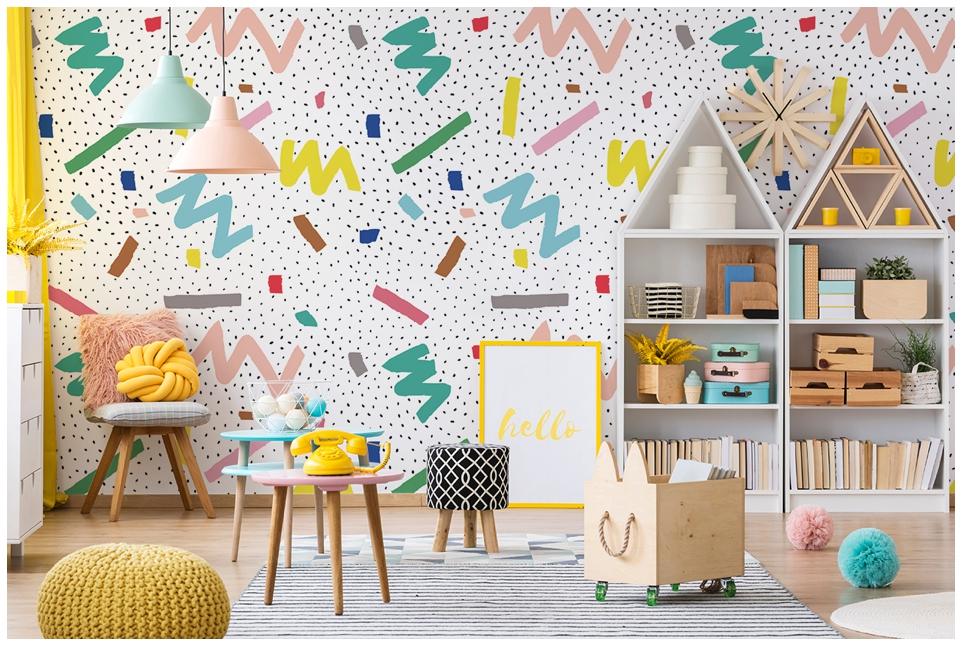 Inspirations papier peint pour ma maison avec - Papier peint fille chambre ...